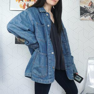 Gap Vintage long denim jacket Medium workwear
